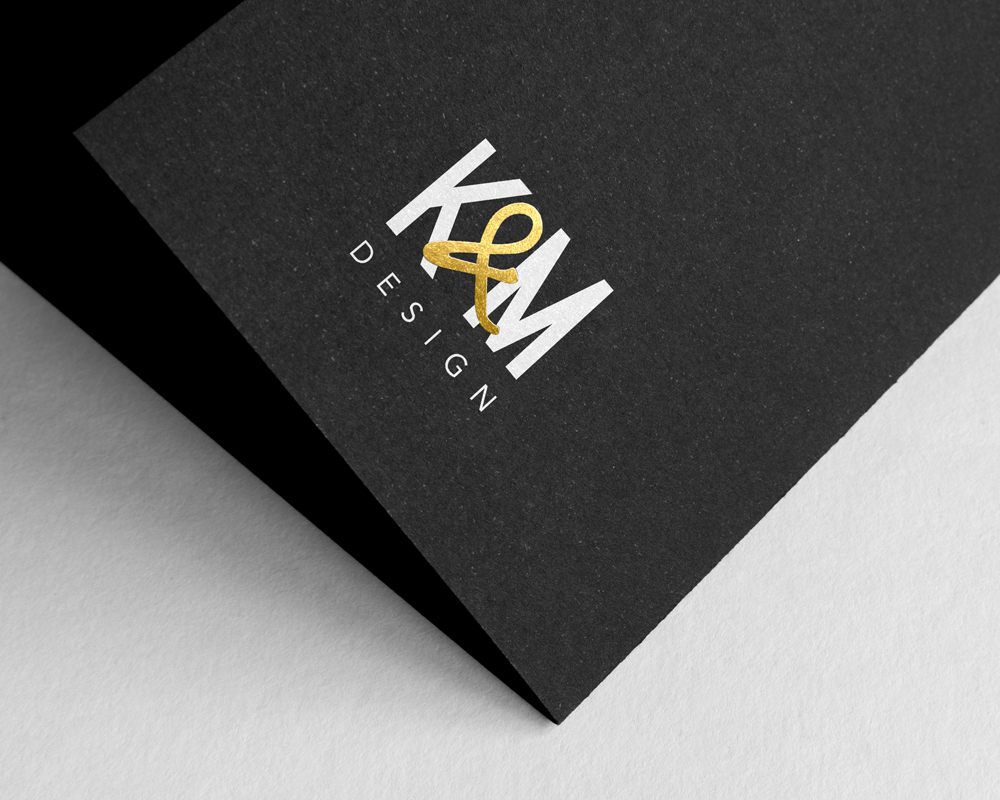 K&M Design / Logo with foil stamp