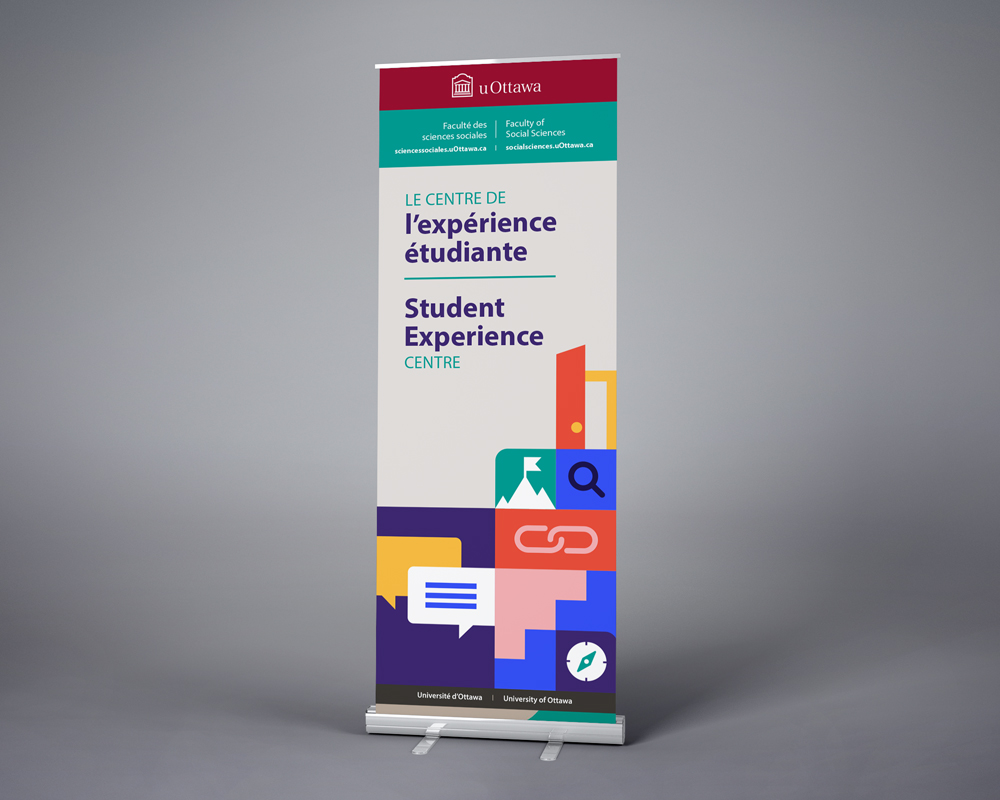 University of Ottawa / The Faculty of Social Sciences Student Experience Centre / retractable banner