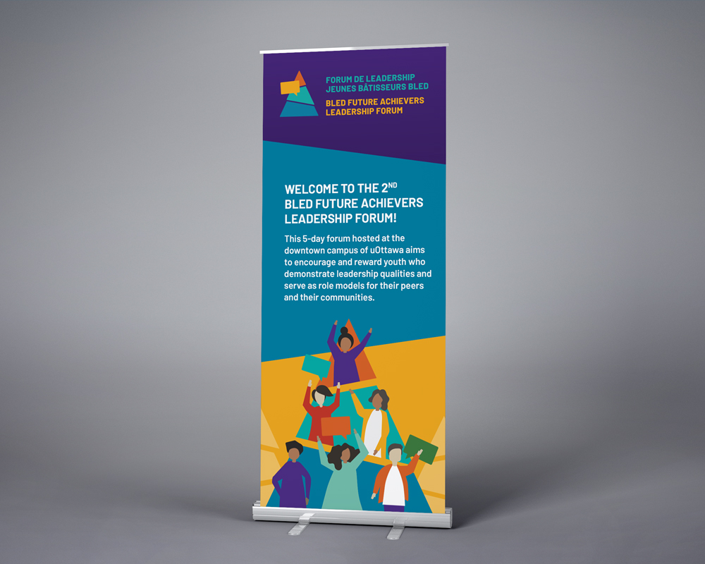 University of Ottawa / Bled Future Achievers Leadership Forum / retractable banner
