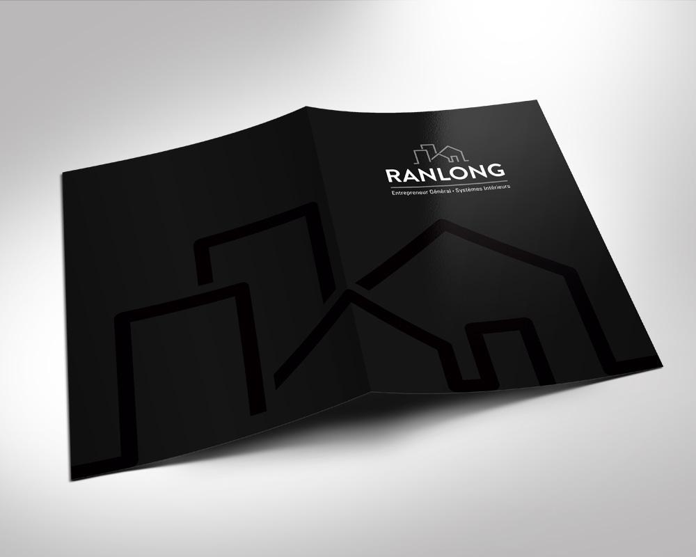 Les Entreprises Ranlong / folder with spot varnish