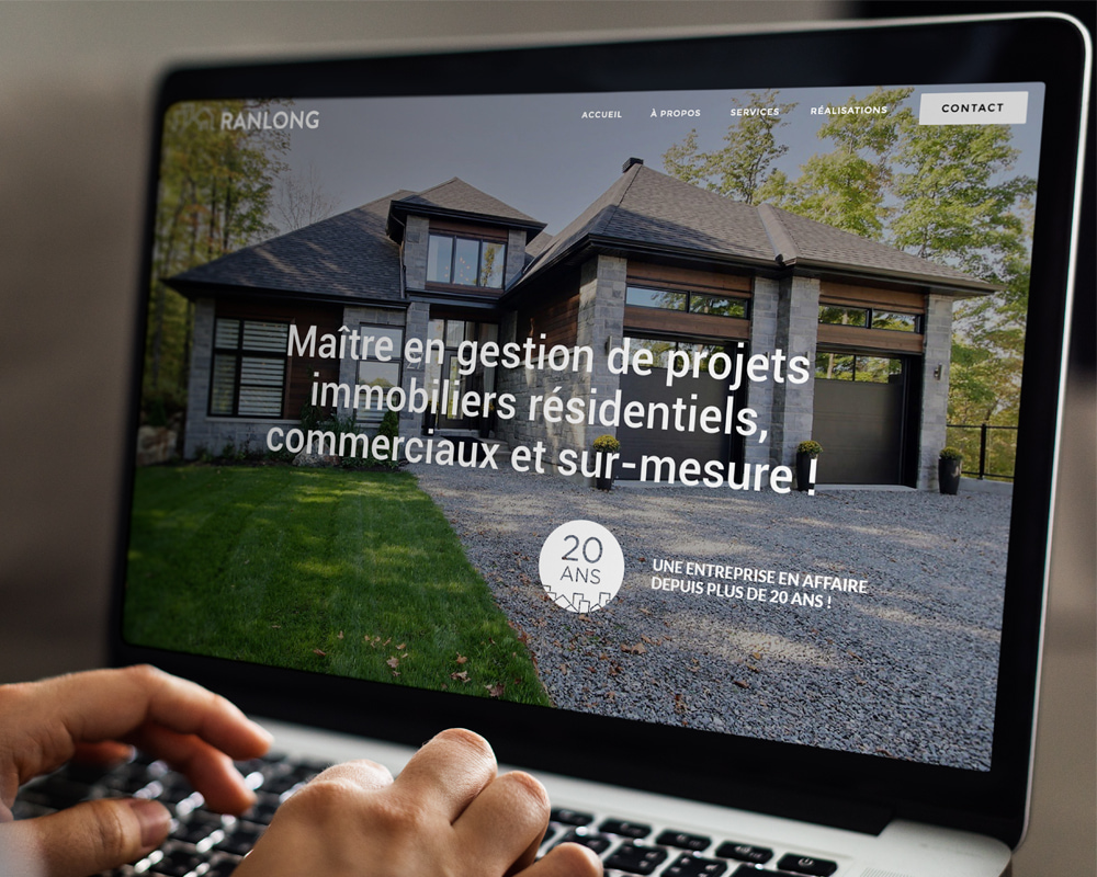 Les Entreprises Ranlong / responsive website