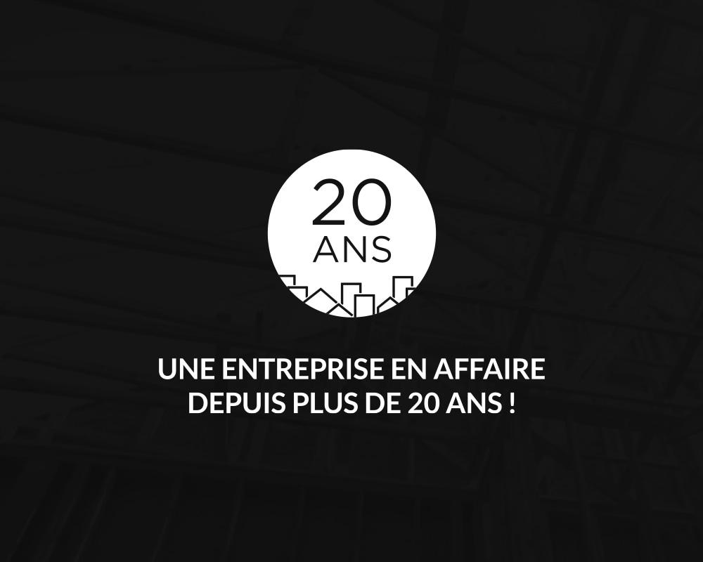 Les Entreprises Ranlong / 20 years logo