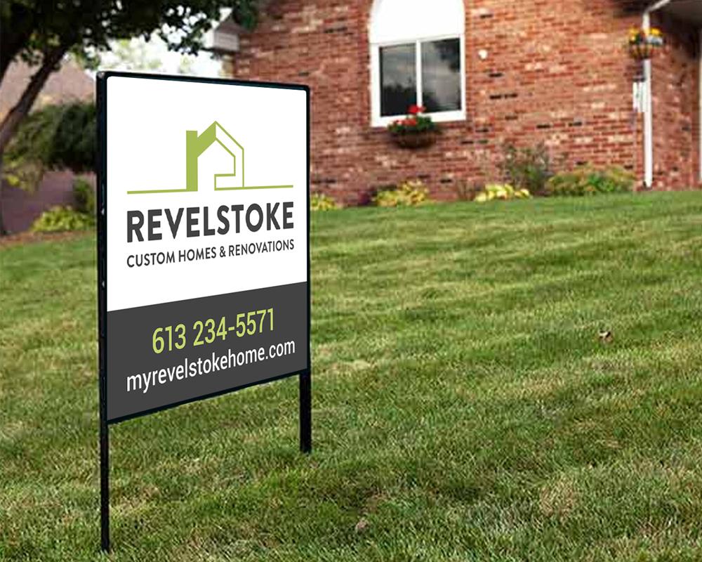 Revelstoke / lawn sign
