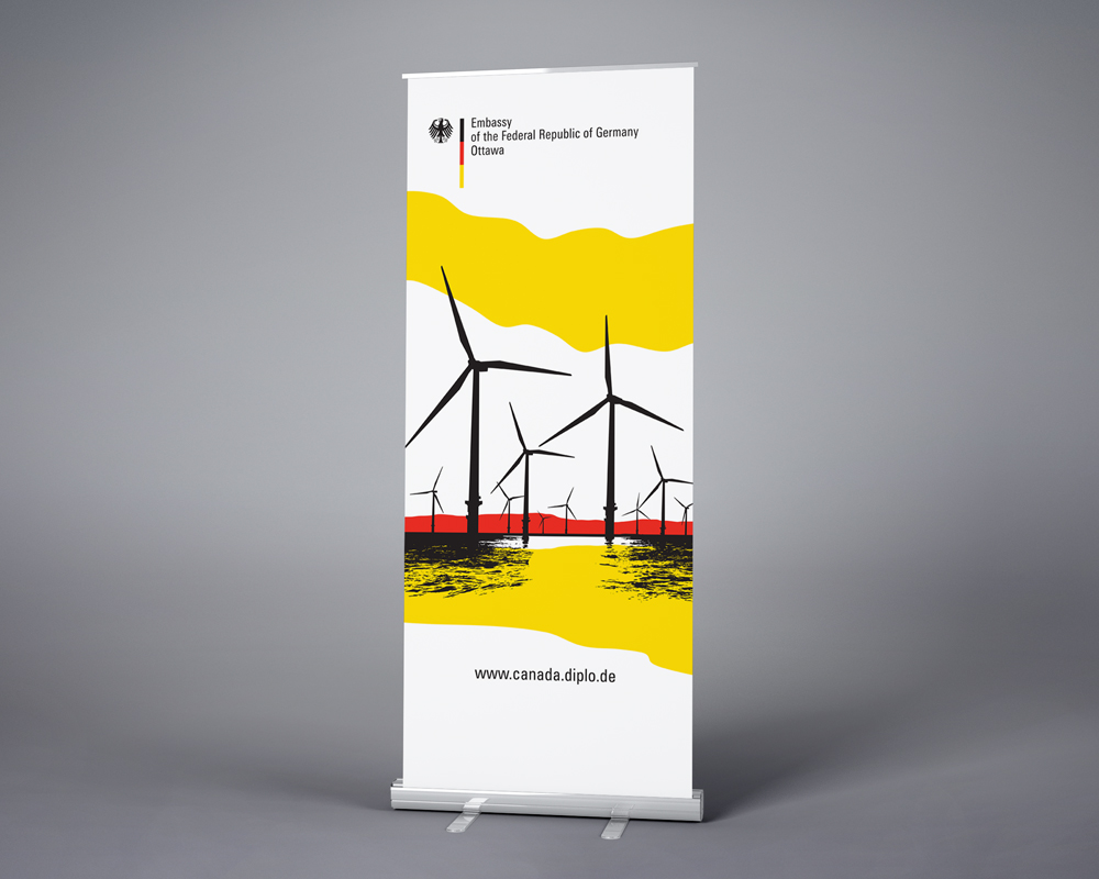 Federal Republic of Germany Embassy / retractable banner