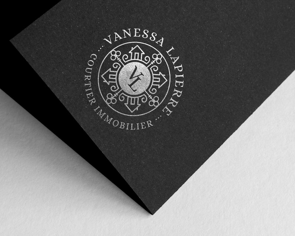 Vanessa Lapierre / logo foil stamp